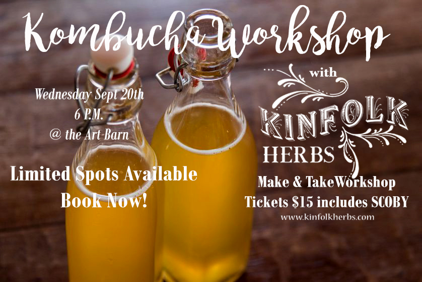 KOMBUCHA WORKSHOP TICKETS ARE NOW ON SALE!